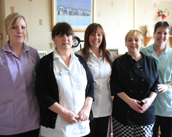 Staff of Hollylodge EMI Residential Care Home, south Wales