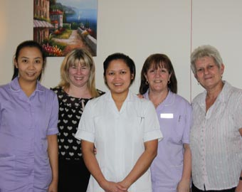 Staff at Thomas Gabrielle Nursing Home, Cwmbran