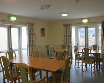 The dining area at Thomas Gabrielle EMI Residential Home, Cwmbran